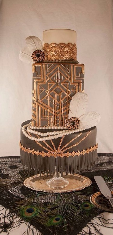 wedding cake ideas gatsby