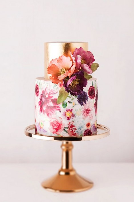 wedding cake ideas illustrated cake