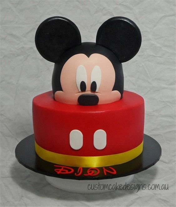 2 year old mickey mouse cake - Especialz