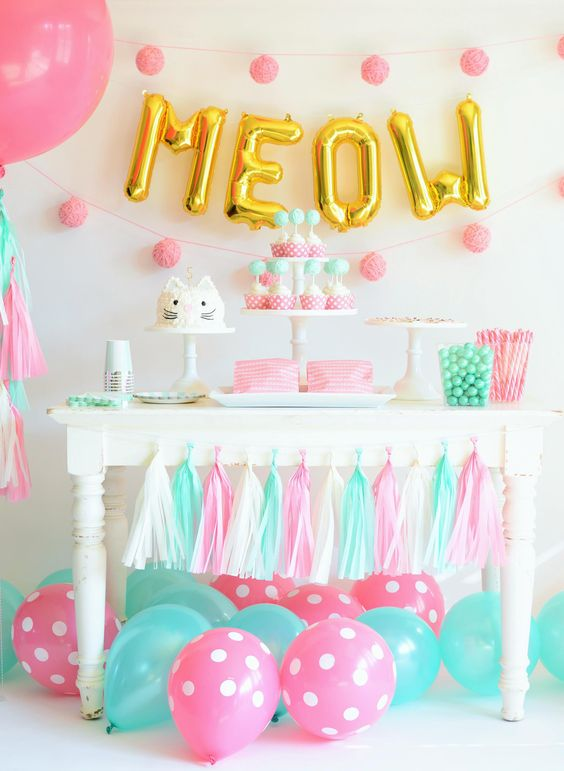2nd birthday party idea- kitty