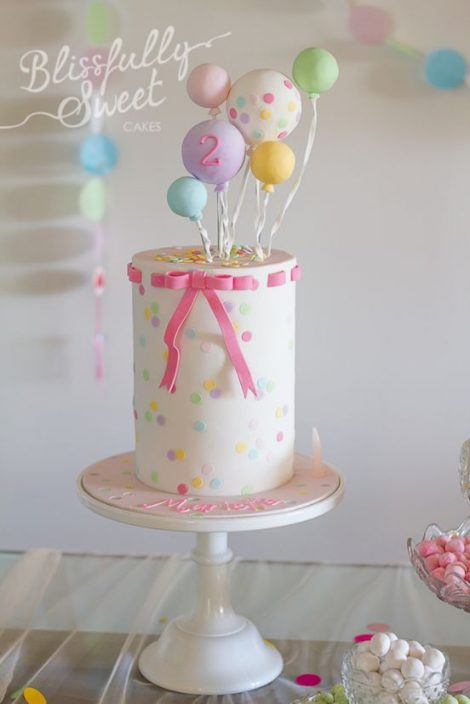 2 year old balloons birthday party idea