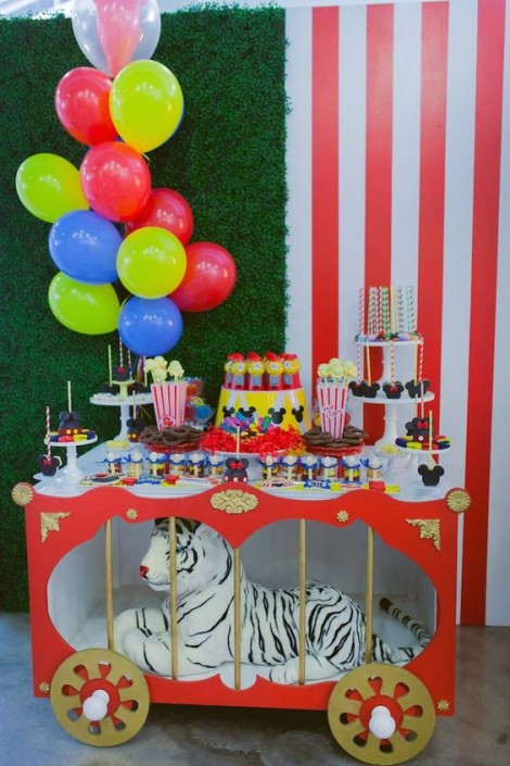 circus-first birthday theme idea