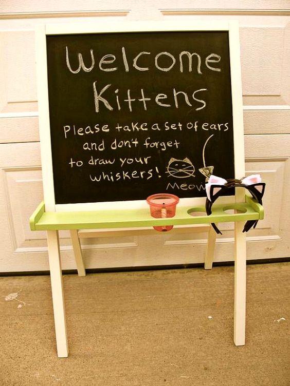 2 year old birthday idea- kitty