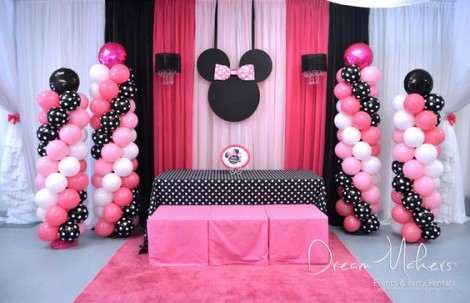 2nd birthday party- minnie mouse theme