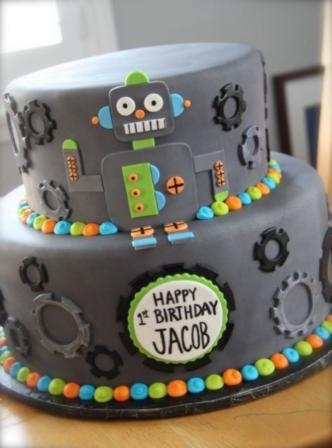 robot first birthday theme idea
