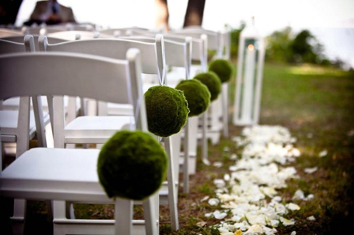 an outdoor wedding
