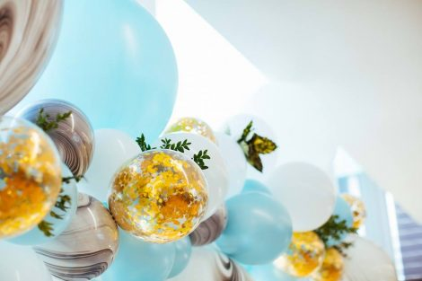 baloons color theme baby shower