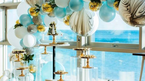 Color Theme Baby Shower: Blue and Gold